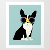 work hard Art Prints featuring Work Hard Play Harder by Andy Westface