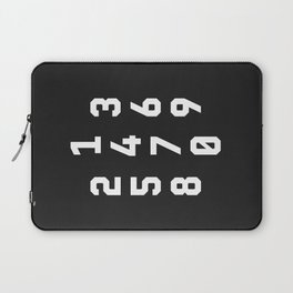 Typography Numbers #3 Laptop Sleeve