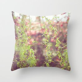 Willow leafs Throw Pillow