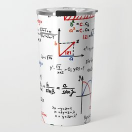 Math Cheat Sheet Travel Mug