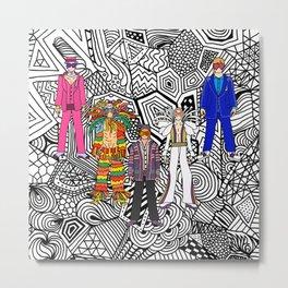 5 Tiny Rocket Dancers w/ Sunglasses Metal Print