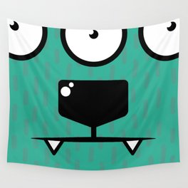 Monsters⁴ : Blue Wall Tapestry