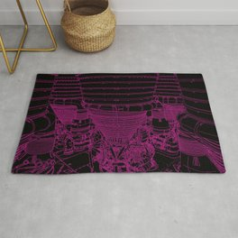Apollo Rocket Booster - Pink Neon Rug