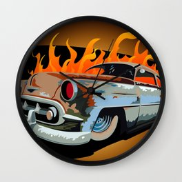 Caddy Rat Rod Wall Clock