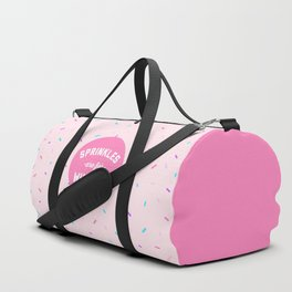 Sprinkles Are For Winners Funny Quote Duffle Bag