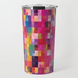 Pixel Quilt Pink Travel Mug
