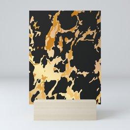 black gold marble Mini Art Print