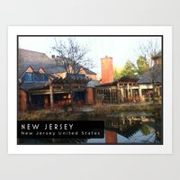 new jersey Art Prints featuring New Jersey  by Parastar Arts