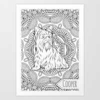 Coloring your Yorkshire Terrier Art Print