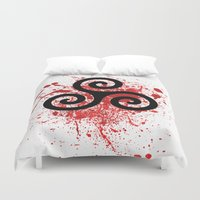 teen wolf Duvet Covers featuring Triskele 2 by AlixInsanity