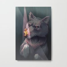 Anxiety and the Wolf Metal Print