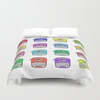 write Duvet Covers featuring Write on by andy_panda_