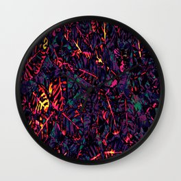 Flora Celeste Purple Amethyst Wall Clock