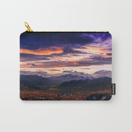 Cloud Covered Mountains Carry-All Pouch