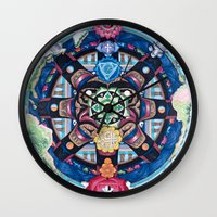 chakra Wall Clocks featuring Earth Chakra by The Art of Eric Carson