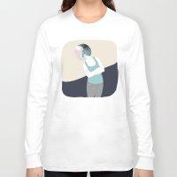 ying yang Long Sleeve T-shirts featuring YING-YANG by Mireia Mullor