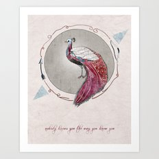 nobody knows you the way you know you Art Print