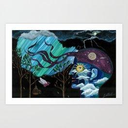 Creativity Heals Art Print
