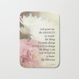 Serenity Prayer Bouquet Bath Mat
