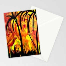 Palms aFire Stationery Cards