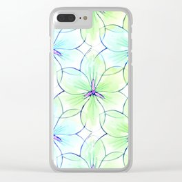 Flower Sketch 7 Clear iPhone Case