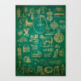 Found Engravings Canvas Print