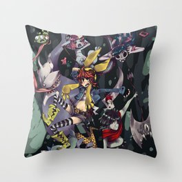 Banda Pesadilla Throw Pillow