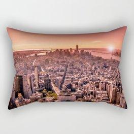 Manhattan in red Rectangular Pillow