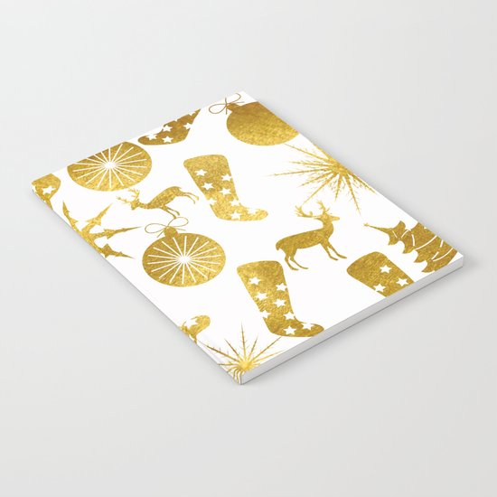 Gold Christmas 06 Notebook