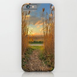 Midwest Grasslands Sunset iPhone Case