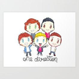 One Direction - Chibi Version Art Print