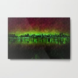 NYC Surreal Green Metal Print