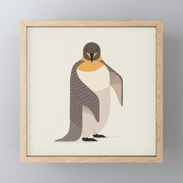 Whimsical Emperor Penguin Framed Mini Art Print