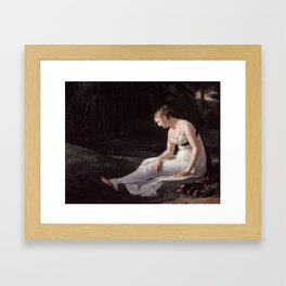 Melancholy, Constance-Marie Charpentier, 1801 Framed Art Print