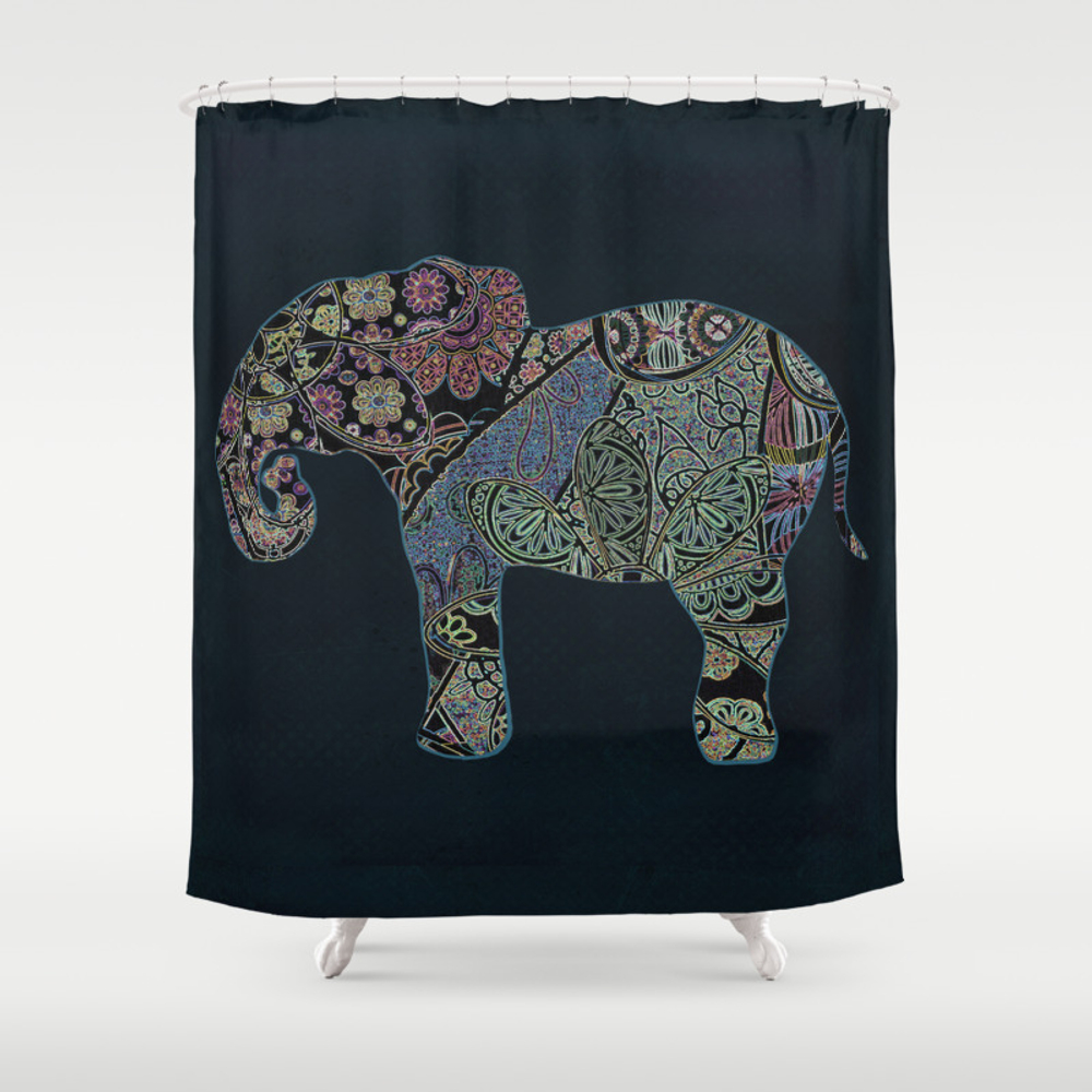 Exotic Elephant Shower Curtain by Jillkoutsdesigns CTN7613846