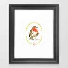 winterbird Framed Art Print