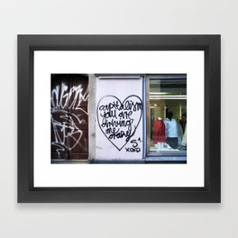 Capitalism your are driving me crazy Framed Art Print
