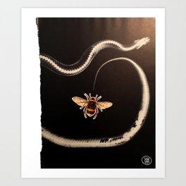 Snakebee Art Print