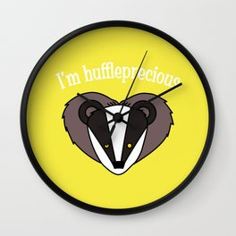 I'm Huffleprecious Wall Clock