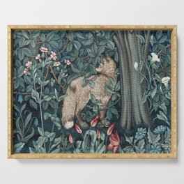 William Morris Forest Fox Tapestry Serving Tray