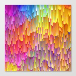 Vibrant Rainbow Cascade Design Canvas Print