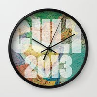globe Wall Clocks featuring globe by Chad spann