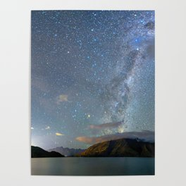 New Zealand Southern Hemisphere Skies Over Lake Wakatipu Poster