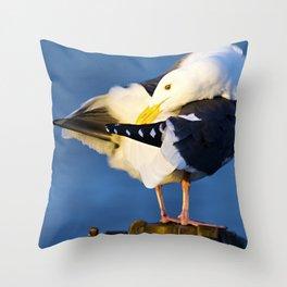 Segull Throw Pillow