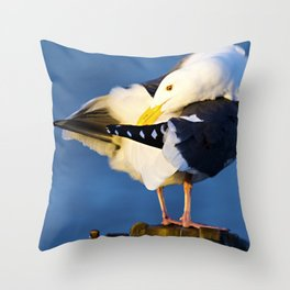 Segull Throw Pillow