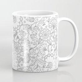 Fly EYES - Patterns GRAY - flowers, floral Coffee Mug