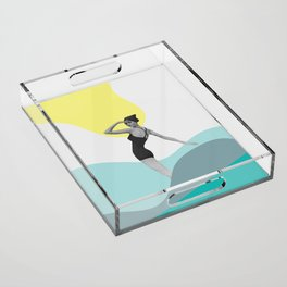 Swimmer Collage Acrylic Tray