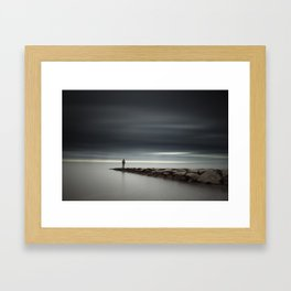 Facing the Storm Framed Art Print