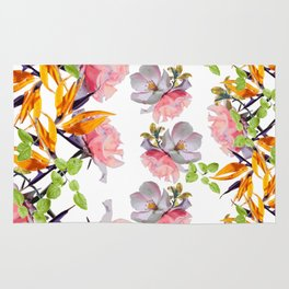 Lush Watercolor Florals Rug