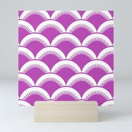 Japanese Fan Pattern Magenta Mini Art Print
